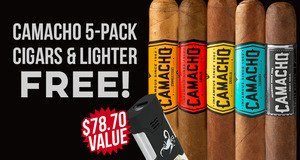 Camacho 5-Pack & Lighter Free With Box Purchase!