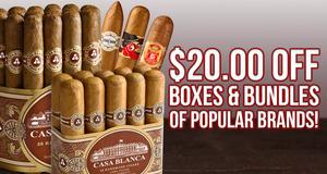 $20.00 Off Bundles & Boxes Of Popular Brands