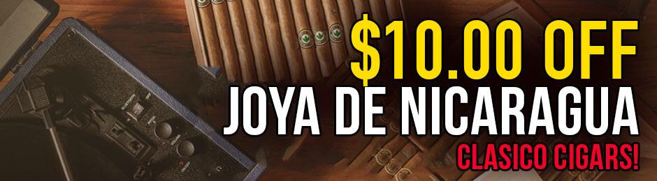 $10.00 Off Boxes of The New Joya de Nicaragua Clasico!