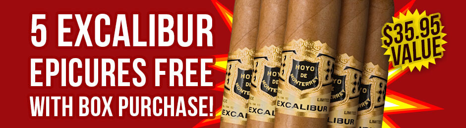 5 Excalibur Epicures Free With Box Purchase!