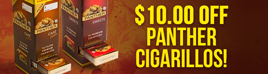 $10.00 Off Panther Cigarillos!