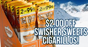 $2.00 Off Swisher Sweets Cigarillos Units!