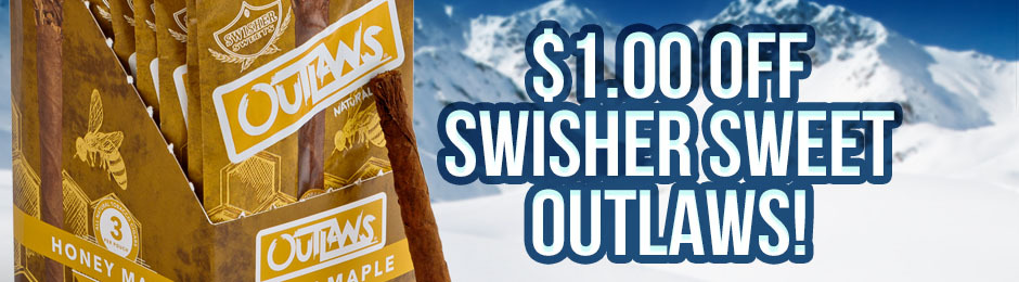 $1.00 Off Swisher Sweets Outlaws Units!