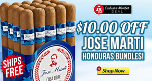 JR Plus Members Get $10 Off Jose Marti Honduras & Free Shipping!
