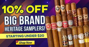 10% Off Big Brand Heritage Samplers!