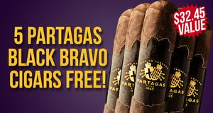 Partagas Black Bravo 5-Pack Free With Box Purchase!