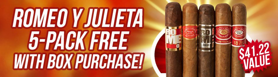 Romeo y Julieta 5-Pack Free With Box Purchase!