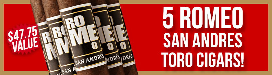 Romeo San Andres Toro 5-Pack Free With Box Purchase!