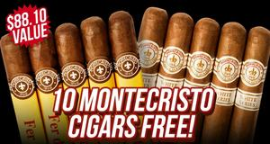 Montecristo 10-Count Assortment Free With Box Purchase!