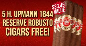 5-Pack Free With H. Upmann Boxes!