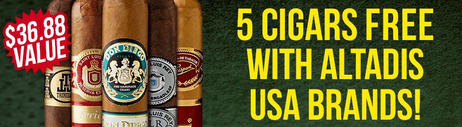 Free 5-Pack With Altadis Brands!