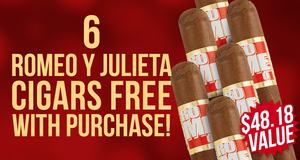 Romeo y Julieta Robusto 6-Pack Free With Box Purchase!