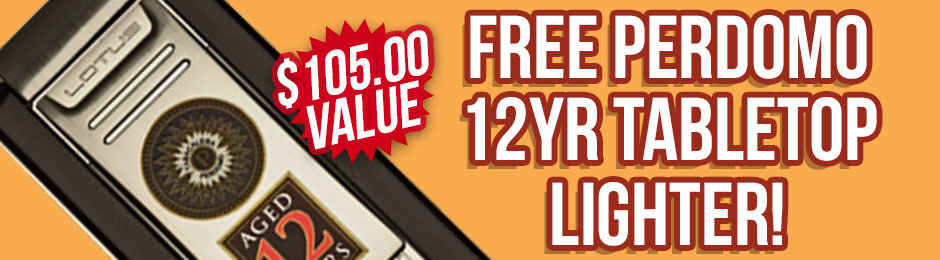 Free Perdomo 12yr Tabletop Lighter With Box Purchase!