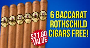 6 Baccarat Rothschilds Free With Box Purchase!
