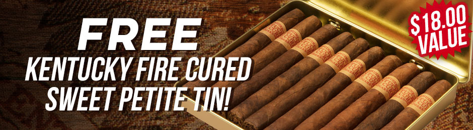 Free Kentucky Fire Cured Sweet Petite Tin With Bundle Purchase!