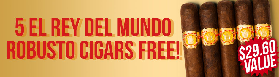 Free El Rey del Mundo Robusto 5-Pack With Box Purchase!