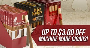 Up to $3.00 Off Machine Mades!