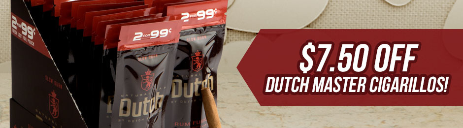 $7.50 Off Select Units of Dutch Masters Cigarillos!