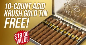 Krush Gold 10-Count Tin Free With ACID Gold Boxes!