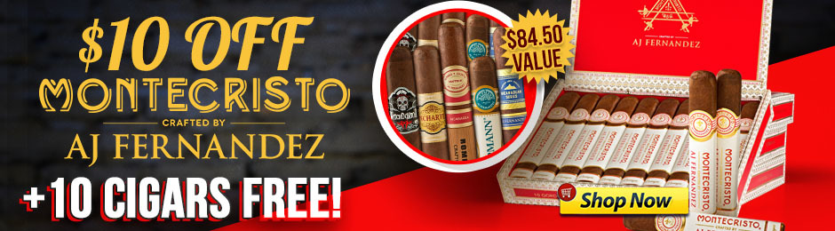 $10 Off Montecristo Crafted By AJ + Free 10-Pack!