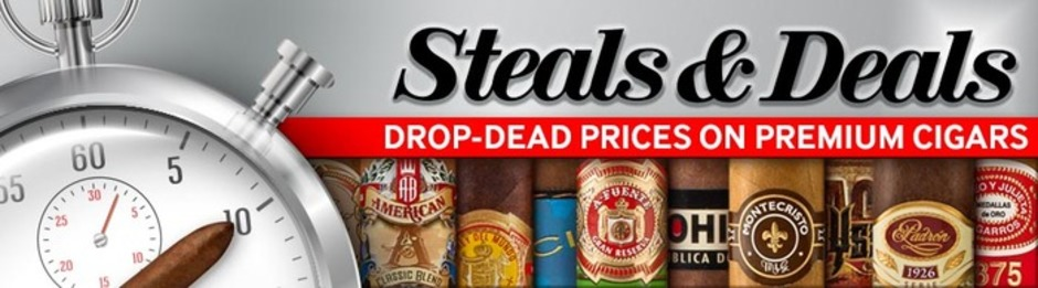 Steals & Deals Offers Huge Savings On Premium Cigars Daily!