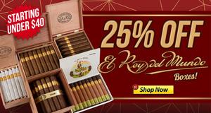 25% Off El Rey Del Mundo Boxes, Through Midnight!