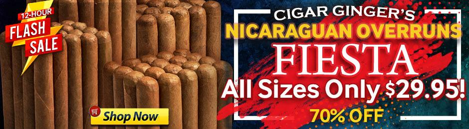 For 12 Hours, Get Bundles Of Cigar Ginger's Nicaraguan Overruns Under $30!