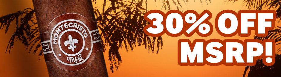 30% off MSRP On Montecristo Afrique Boxes!