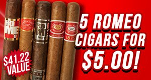 5-Pack For $5.00 With Romeo Boxes!