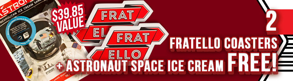 2 Coasters & a Pack of Astronaut Space Ice Cream Free With Fratello!