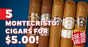 Monte Lovers Sampler For Only $5.00 With Montecristo Boxes!