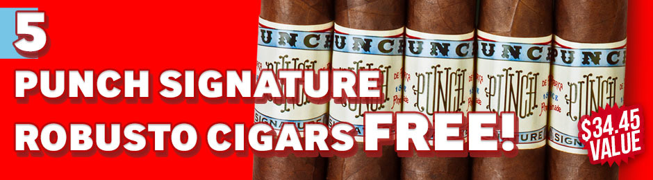 Punch Signature Robusto 5-Pack Free With Box Purchase!