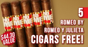 Romeo By Romeo y Julieta 5-Pack Free With Box Purchase!