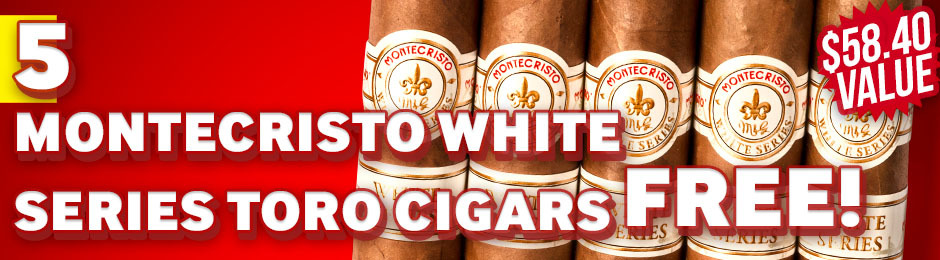 Montecristo White Series Toro 5-Pack Free With Purchase!
