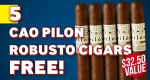 5 CAO Pilon Robustos Free With Box Purchase!