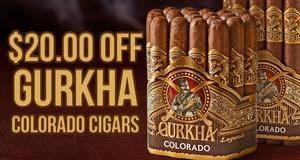 $20.00 Off Gurkha Colorado Boxes!