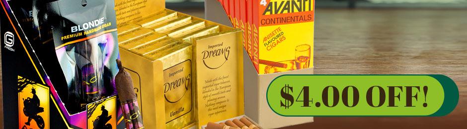 $4.00 Off Dreams Filtered Cigars, ACID G-Fresh & Avanti Units!