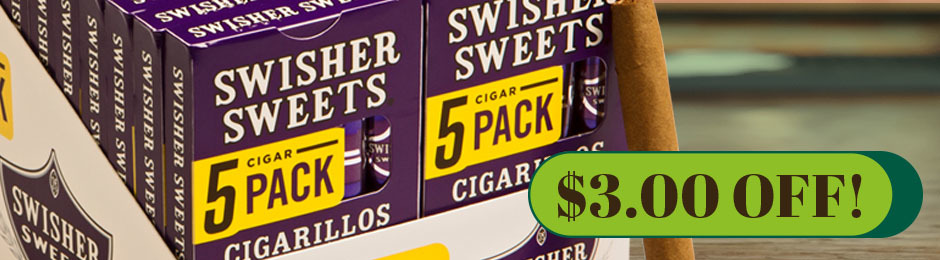 $3.00 Off Swisher Sweets Cigarillos!