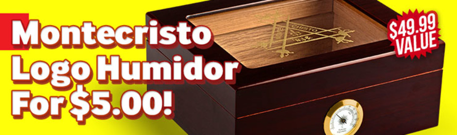 Montecristo Logo Humidor Only $5.00 More With Box Purchase!
