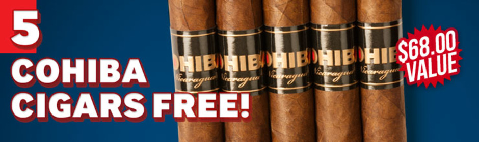 Cohiba Nicaragua Robusto 5-Pack Free With Box Purchase!