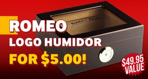Romeo Logo Humidor Only $5.00 More With Box Purchase!