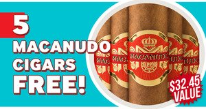 Macanudo Inspirado Orange Robusto 5-Pack Free With Box Purchase!
