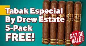 Tabak Especial By Drew Estate 5-Pack Free With Purchase!
