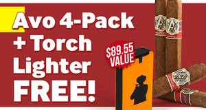 Avo 4-Pack + Torch Lighter Free With Purchase!