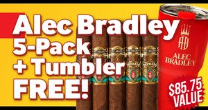 Alec Bradley 5-Pack + Tumbler Free With Box Purchase!