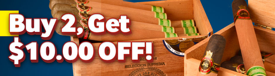 $10.00 Off Purchase Of 2 JR Ultimate Boxes!