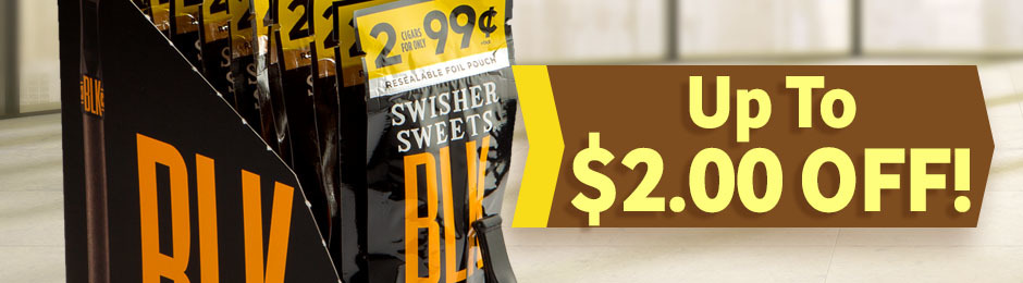 Up To $2.00 Off Swisher Sweets BLK Units!