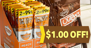 $1.00 Off Units of Swisher Sweets Cigarillos & Swisher Sweets Outlaws!