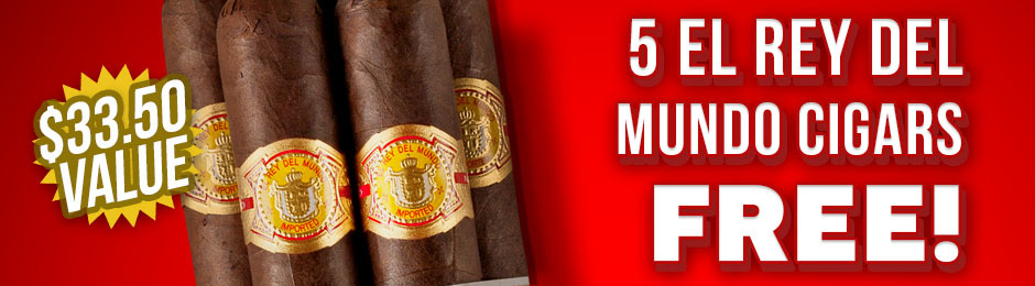 El Rey del Mundo Robusto 5-Pack Free With Box Purchase!