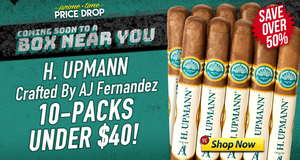 For 12 Hours, Get Upmann Crafted By AJ 10-Packs Under $40!